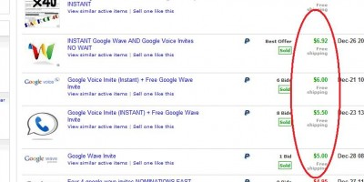 google-wave-invite-on-ebay
