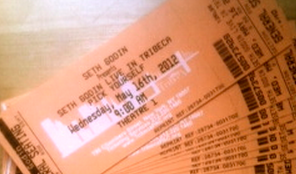 Tickets for Seth Godin Live in Tribeca May 16, 2012