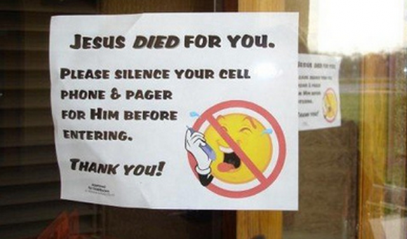 Churches that discourage cell phone use during church worship service
