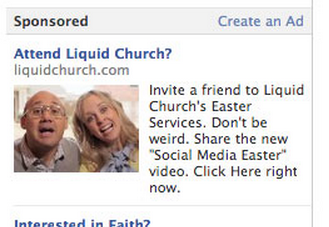 Facebook ad for easter services